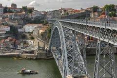 Vista da cidade histórica de Porto, Portugal Fotografia de Stock Royalty Free