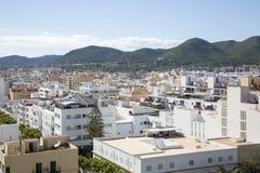 Vista da cidade; Ibiza imagens de stock