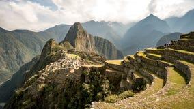 Vista da cidade Incan perdida de Machu Picchu perto de Cusco, Peru imagem de stock