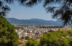 Vista da cidade Kalamata, Peloponnese, Grécia Fotografia de Stock Royalty Free