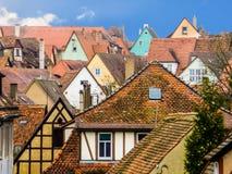 Vista da cidade medieval Rothenburg Fotos de Stock Royalty Free