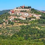 Vista da cidade Motovun em Istria, Croácia Foto de Stock