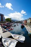 Vista da cidade norueguesa famosa Alesund Fotos de Stock Royalty Free