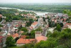 Vista da cidade pequena Imagens de Stock