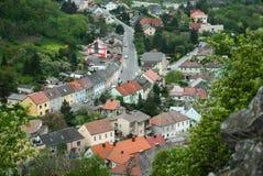Vista da cidade pequena Foto de Stock Royalty Free