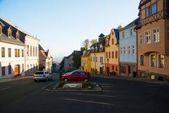 Vista da cidade pequena maravilhosa em um de seu historica mais velho Imagem de Stock Royalty Free