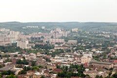 Vista da cidade pequena velha Lviv Imagens de Stock Royalty Free