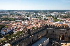 Vista da cidade Pombal foto de stock royalty free