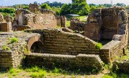 Vista da cidade romana antiga das ruínas arqueológicos fotografia de stock