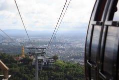 Vista da cidade rural do teleférico Fotografia de Stock Royalty Free