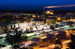 Vista da cidade sueco pequena Fotografia de Stock