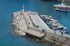 Vista da cidade velha de Antalya foto de stock royalty free