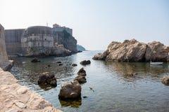 Vista da cidade velha de Dubrovnik imagem de stock
