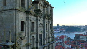 Vista da cidade velha de Porto, Portugal filme