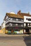 Vista da cidade velha de Salisbúria, Reino Unido imagens de stock