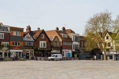 Vista da cidade velha de Salisbúria, Reino Unido fotografia de stock royalty free