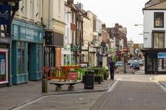 Vista da cidade velha de Salisbúria, Reino Unido foto de stock royalty free