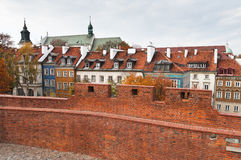 Vista da cidade velha de Varsóvia Foto de Stock
