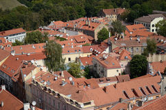 Vista da cidade velha de Vilnius, Lithuania Foto de Stock Royalty Free