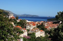 Vista da cidade velha Dubrovnik Fotos de Stock
