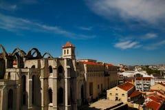 Vista da cidade velha Lisboa Lisboa Portugal da arquitetura da cidade imagens de stock
