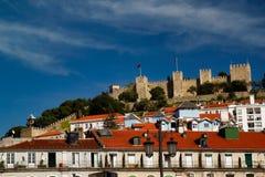 Vista da cidade velha Lisboa Lisboa Portugal da arquitetura da cidade imagem de stock