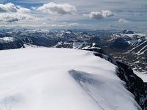 Vista da cimeira de Kebnekaise Foto de Stock