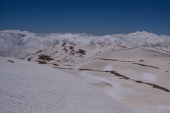 Vista da cimeira Kizlarsivrisi, Taurus Mountains Imagens de Stock Royalty Free