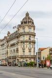 Vista da construção clássica com o hotel em Coimbra fotos de stock royalty free