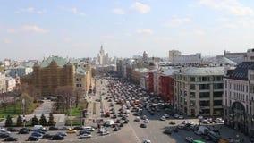 Vista da construção da loja em Lubyanka (aberto em abril de 2015 após a reconstrução extensiva), Moscou das crianças centrais, Ru vídeos de arquivo