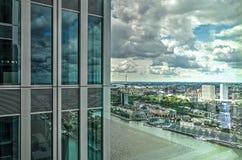 Vista da construção do De Rotterdam imagem de stock royalty free