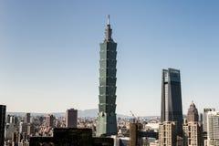Vista da construção do World Trade Center de Taipei 101 Fotos de Stock