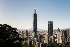 Vista da construção do World Trade Center de Taipei 101 Foto de Stock Royalty Free
