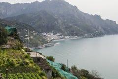 Vista da costa de Amalfi Fotografia de Stock