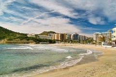 Vista da costa de Benidorm foto de stock royalty free
