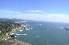 Vista da costa de Oregon Fotos de Stock Royalty Free