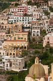 Vista da costa de Positano Amalfi Fotos de Stock