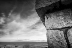 Vista da costa de Sitges Fotos de Stock Royalty Free