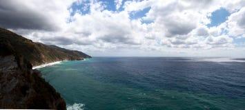 Vista da costa do corniglia, cinco terras Itália Imagem de Stock Royalty Free