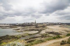 Vista da costa do malo de Saint Imagem de Stock Royalty Free