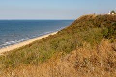 Vista da costa do mar de Azov imagens de stock