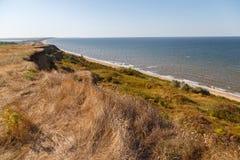 Vista da costa do mar de Azov foto de stock