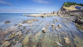 Vista da costa do país Basque Fotos de Stock Royalty Free