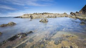 Vista da costa do país Basque Imagens de Stock