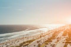Vista da costa em Rio de janeiro, Brasil Fotografia de Stock