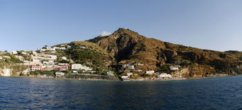 Vista da costa, Itália Panorama Foto de Stock Royalty Free