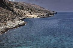 Vista da costa na ilha da Creta Foto de Stock Royalty Free