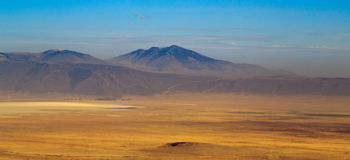 Vista da cratera de Ngorongoro Fotografia de Stock