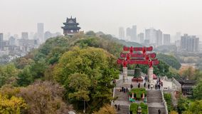 Vista da cume em Wuhan, China imagens de stock royalty free