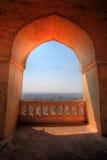 Vista da Dharbar Corridoio, fortificazione di Golconda, Haidarabad Fotografia Stock Libera da Diritti
